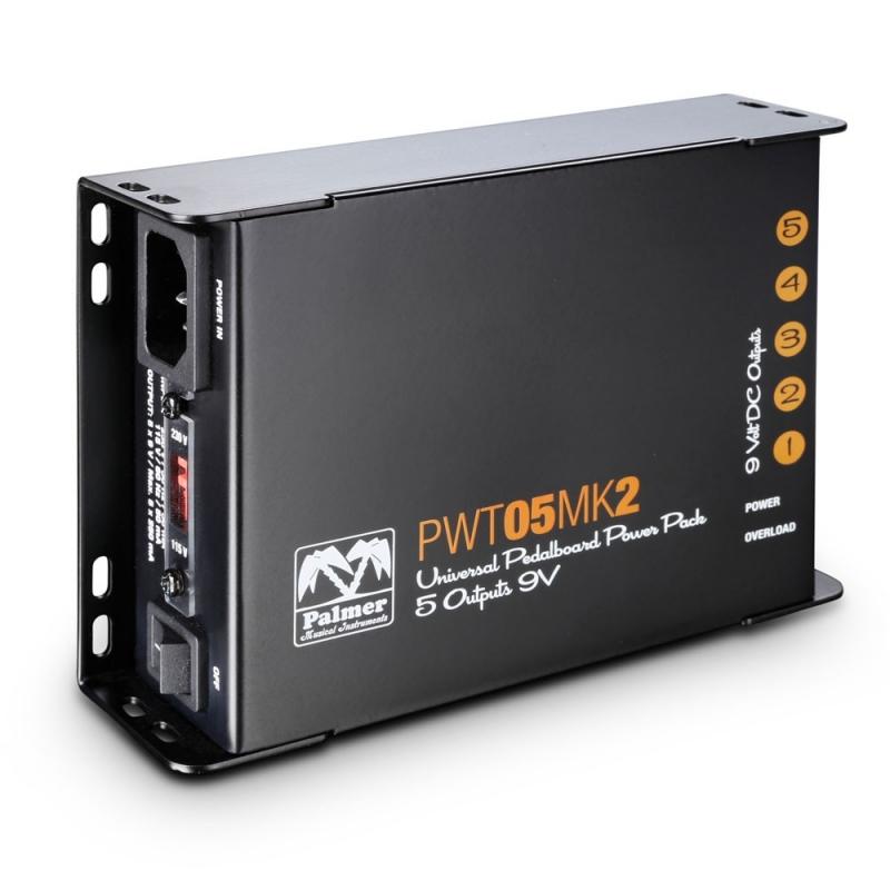Palmer MI PWT 05 MK 2 Universelles 9V-Netzteil für Pedalboards 5 Ausgänge